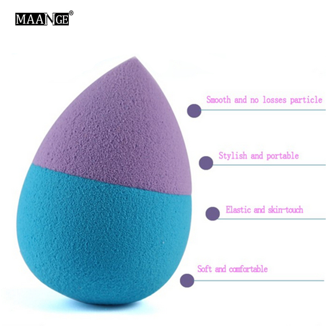 1pc double Colors Sponge Makeup Cosmetic Puff Make Up Blender Flawless for lady Cosmetic Puff 3