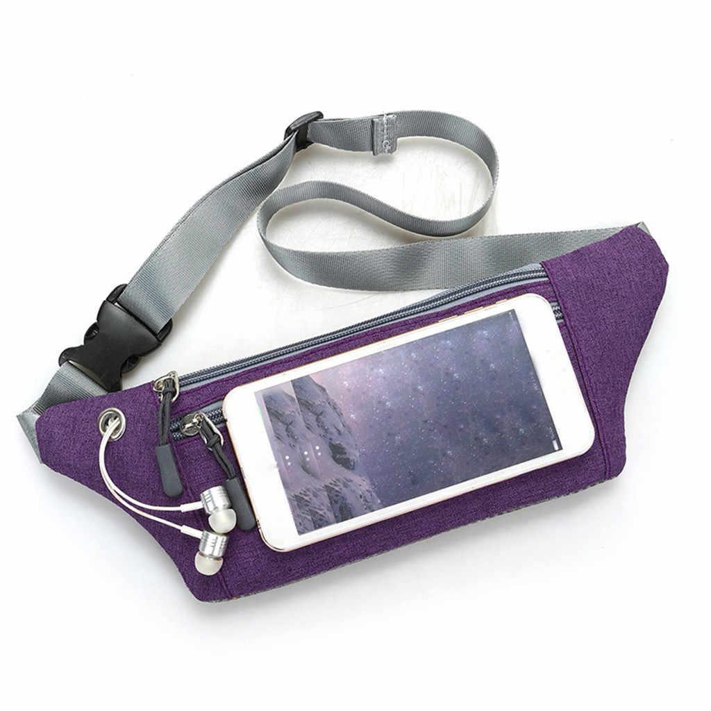 Bolsa de cintura al aire libre para hombre, bolsa de deporte multifunción, bolsillos de ocio, bolsa para teléfono de montañismo, bolsas para el vientre Unisex # YL1