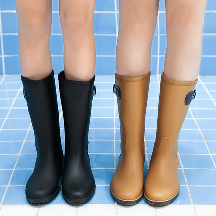 Fashion 2018 Women Mid-calf Boots Waterproof Rubber Women Rain Boots Casual Ladies Boots Shoes Summer PVC Jelly Shoes цена