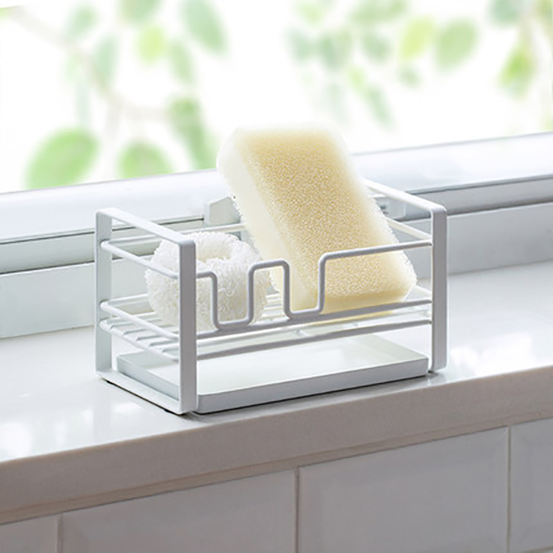 Metal Sponge Drain Storage Rack With Tray Pool Shelf Kitchen Sink Mesa Cleaning Rag Shelves Holder Accessory