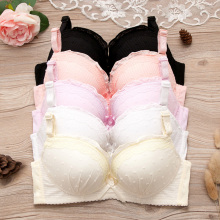 Women Push Up Bra For Small Breast Fashion Lace Bra Wire Free Lace Bralette Adjusted Straps Brassiere Girls Bras BH Top A B Cup sweet lace rib elastic push up bras for women japanese style padded wire free 8 colours comfy everyday bh bra lingeries 2019 new