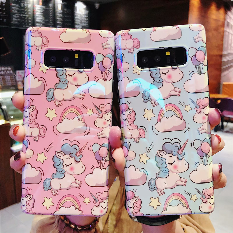 Cartoon Silicon Case on for Fundas Samsung Galaxy S10 Cover for Samsung S 10 Plus S10e S10Plus Cute Dog Unicorn Soft Phone Case image