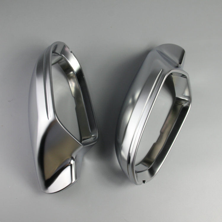 High quality 1 pair For Audi A6 C7 PA Side Assist Support matt Silver chrome mirror