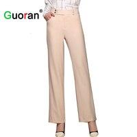 Sarvik 2016 New Women Linen Pants Long Plus Size Loose Cotton Linen Wide Leg Pants Female