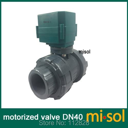 motorized pvc valve 12V DN40 BSP 1 5 PVC valve 2 way electrical pvc valve CR01