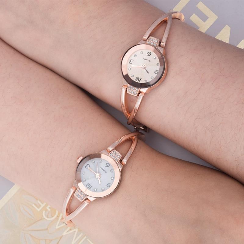 Fashion Small Dial Women casual Watch Bracelet Ladies steel Wristwatch female diamond Alloy dress Watches Quartz clock hours
