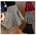 Nova outono inverno 2015 curto saias mulher cintura alta tricô de lã saia feminina Plus Size saia plissada para a mulher