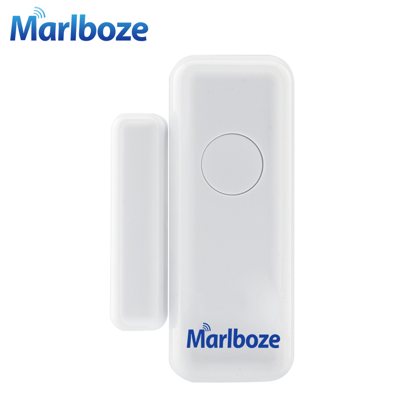 Marlboze 1Pcs Wireless 433MHZ Door Window Security Smart Gap Sensor for Our PG103 Home Security WIFI GSM 3G GPRS Alarm system forecum 433mhz wireless magnetic door window sensor alarm detector for rolling door and roller shutter home burglar alarm system