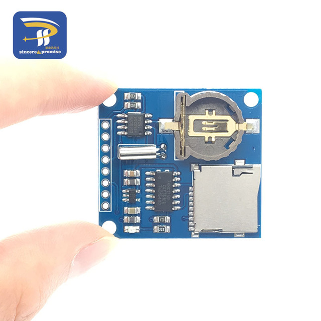 New Mini Logging Recorder Data Logger Module Shield V1.0 for Arduino SD Card Hot
