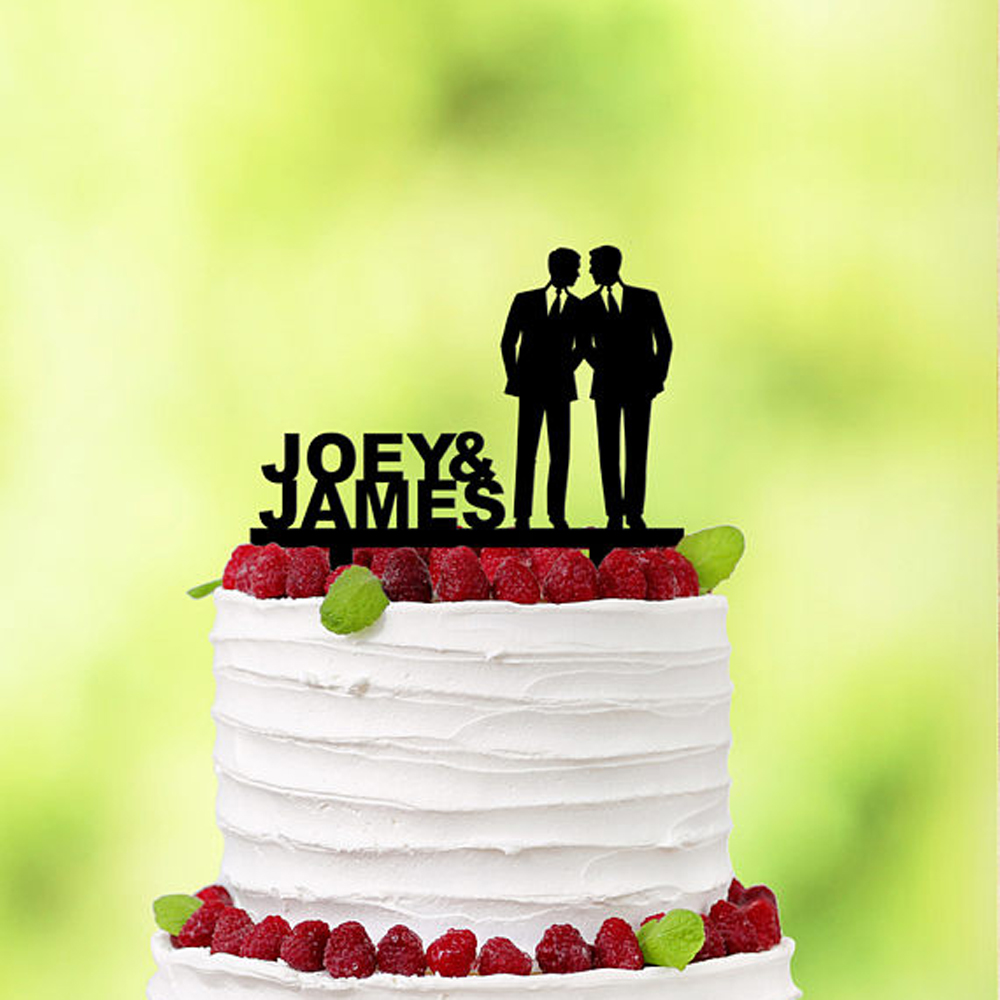 Hot Sale His And His Gay Wedding Cake Topper Gay Same Sex Wedding Mr
