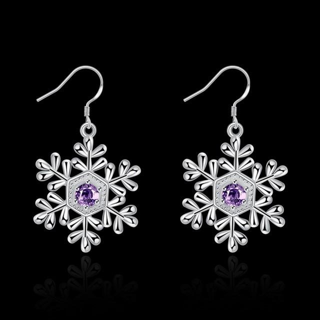 Купить todorova корейские модные фиолетовые хрустальные женские серьги