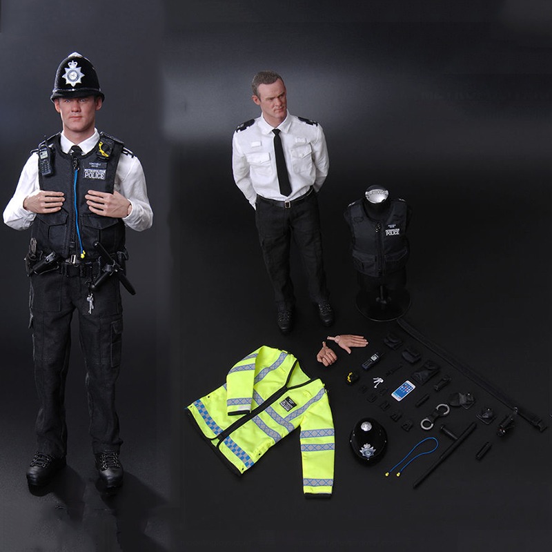 1:6 MMS9001 full set British Metropolitan Police Service MPS Action Figure Collectible Soldier doll Model Collections фигурка planet of the apes action figure classic gorilla soldier 2 pack 18 см