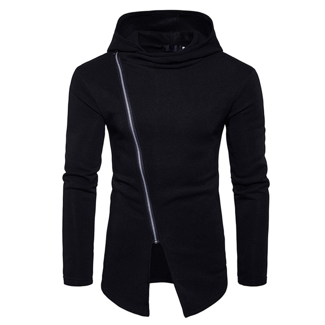 YJ(15) Store Mens Stylish Hoodies Slim Sweats Casual Zipper Hooded Regular Solid Coat Jacket Coat Sportswear Winter Hip Hop Clothes Outwear