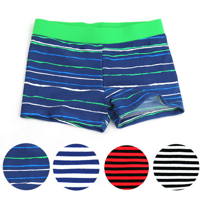 d3cb3b8f7 Striped Swimming Trunks Boys Nylon Bathing Suit Children Swim Shorts Baby  Boys Beach Pants Swimwear Kids Swimsuit 3-8 Years