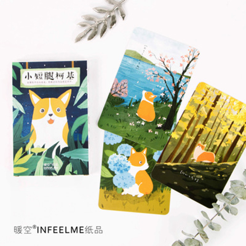 Business Cards Calendars, Planners & Cards The Cheapest Price 30 Sheets/lot Cute Cartoon Corgi Postcard /greeting Card/wish Card/christmas And New Year Gifts