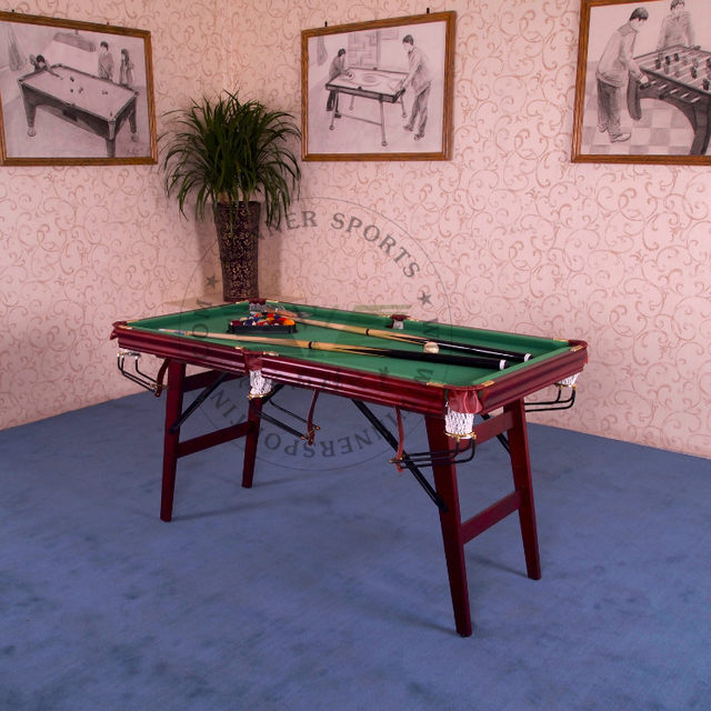 Online Shop Inch Folding American Pool Table Biilard Table Family - Fold up pool table full size
