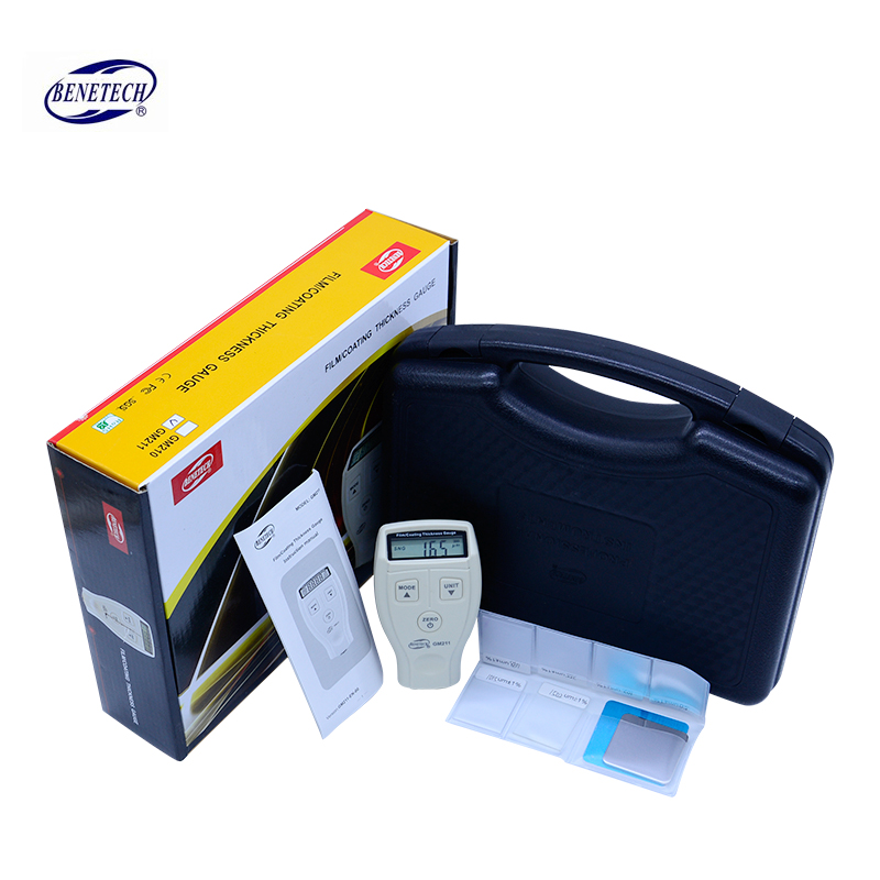 0-1500um High precision Coating thickness gauge magnetic/non-magnetic Car Automotive Compound thickness gauge GM211 with box 0 1500um lcd film coating thickness gauge meter 2in1 fe nfe non magnetic surface paint coatings thickness measurement gm211