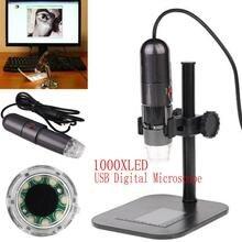 8LED 1000X10 МП USB Цифровой Микроскоп Эндоскопа Видеокамера Cam ж/Подставка