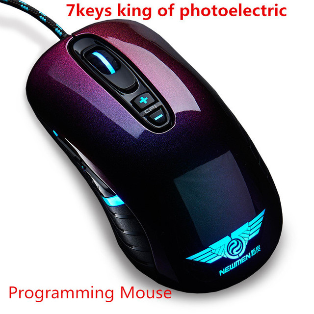 Newmen GX1-pro professional  wired mouse 7keys  Optical  Mouse gaming mouse  high-end programming software mouse with big pad