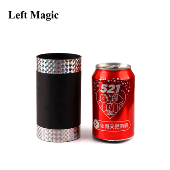 Vanishing Coke Can Magic Trick Silk And Cane Magic Prop Coke To Silk Stage Close Up Magic Props Mentalism Magic Tricks Gimmick party magic tricks prop and training set shrinking cards