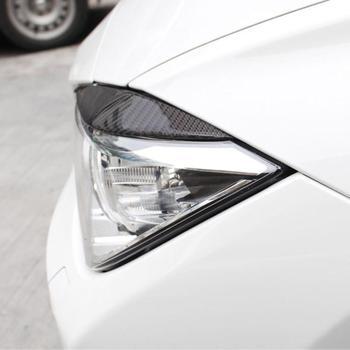 VODOOL 1 пара углеродное волокно фар автомобиля Брови Веки Автомобильная  ступица