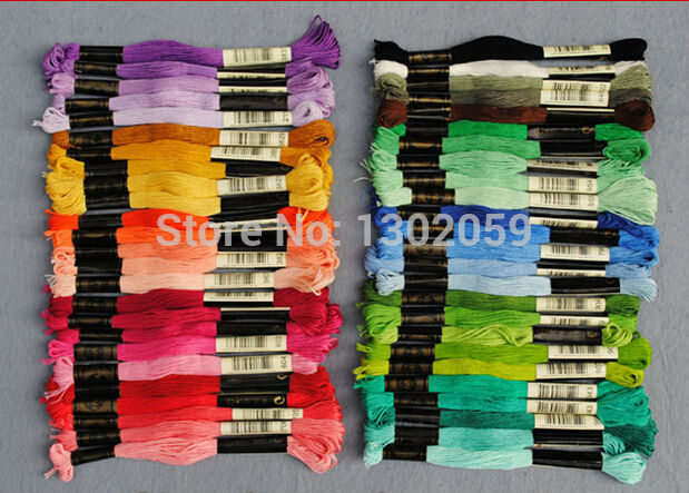 8 7 Yard length 447 Skeins lot Floss 100 Pieces Needle Cross Stitch Embroidery Floss Yarn