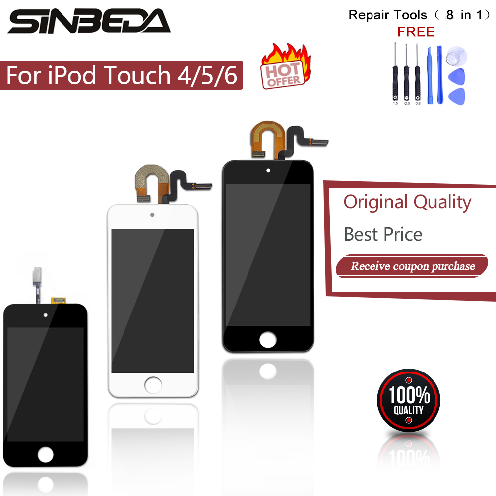Sinbeda For ipod Touch 4 4G 5 5th 6 6th LCD Display Touch Screen Digitizer For iPod 4G Touch5 Touch6 Display Replacement(China)