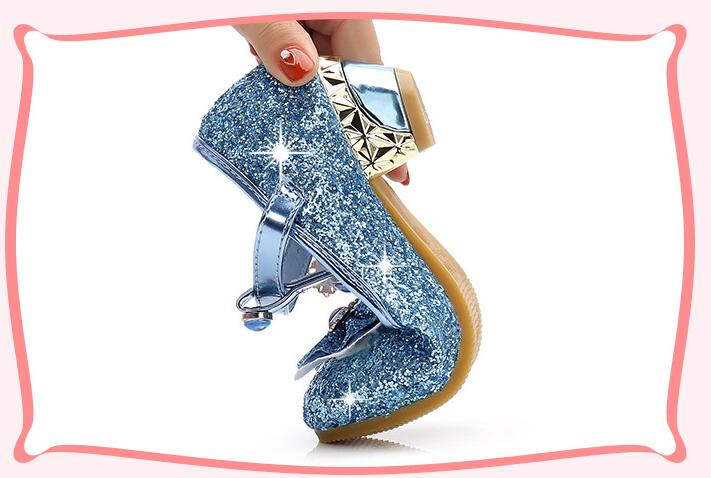 Meninas sapatos de casamento glitter nova marca
