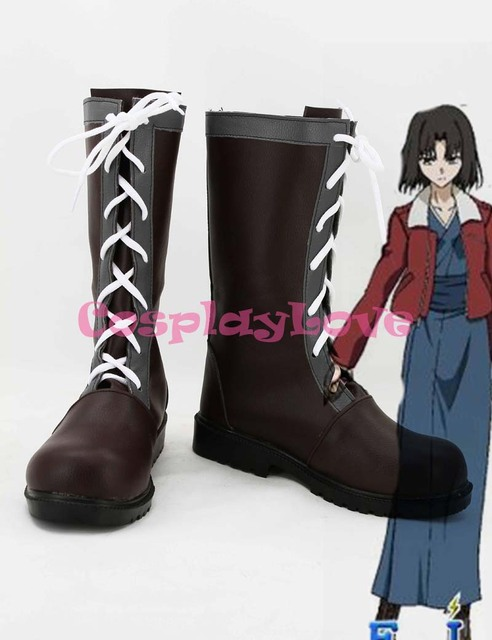 Kara no Kyoukai Cosplay Shiki Ryougi Cosplay Shoes Boots Hand Made  Custom-Made For Halloween