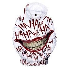 2019 New Fashion Sweatshirts Men Hoodies Joker 3D Printing Hoodie Male Casual loose Tracksuits Size XXS-4XL Dropshopping