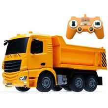 2,4G Радиоуправляемый экскаватор с дистанционным управлением для детских подарочных игрушек