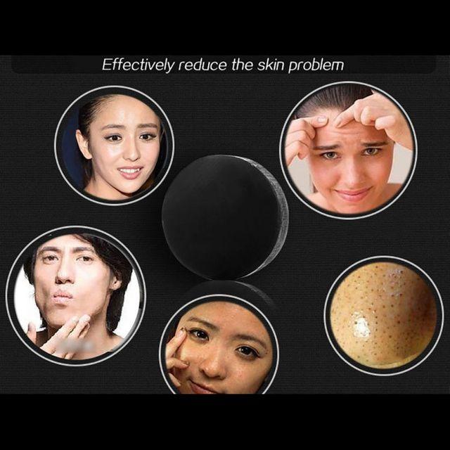 Handmade Soap Bamboo Charcoal Skin Care Treatment Natural Skin Whitening Soap Blackhead Remover Acne Treatment Control Oil 5