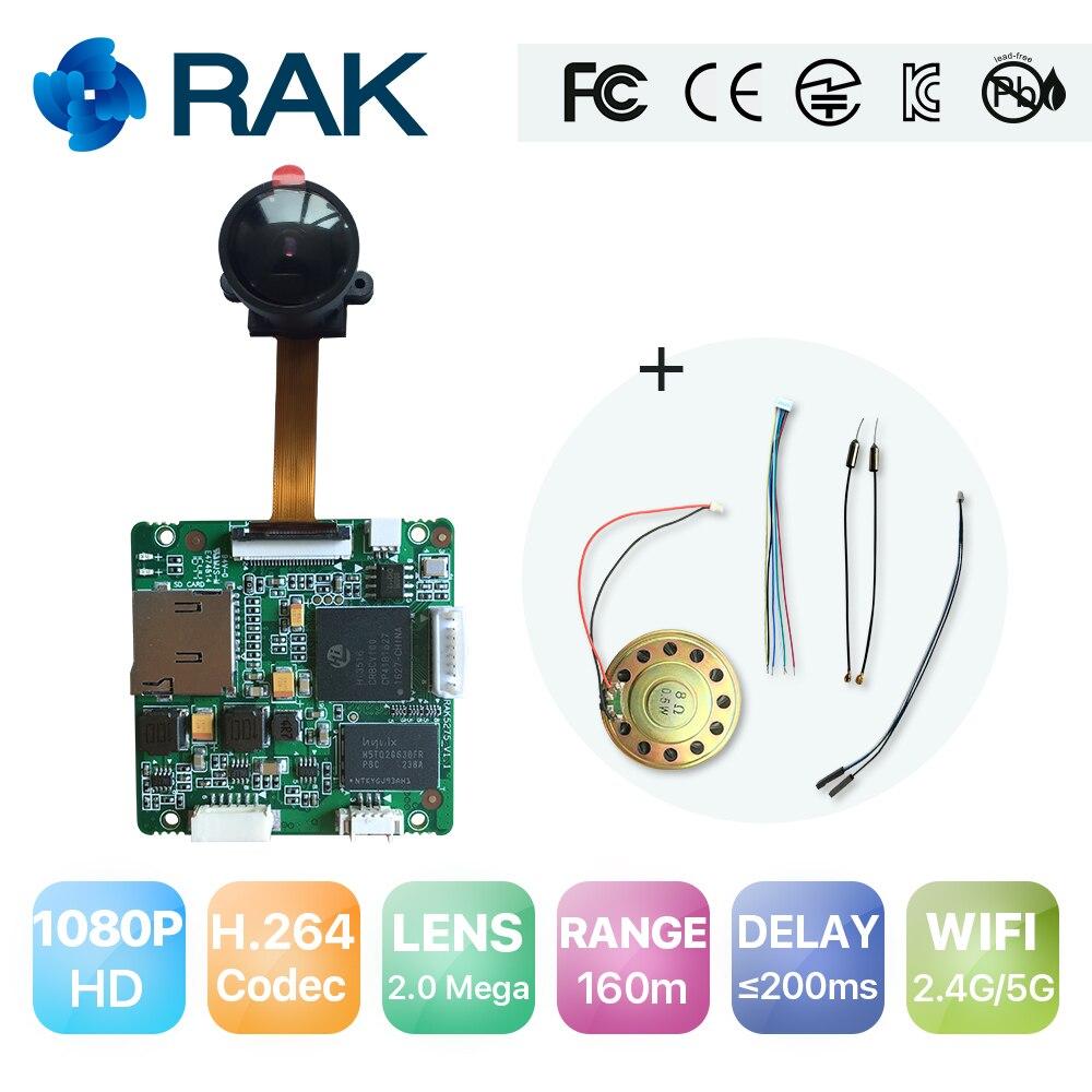 RAK5270 5.8G Intelligent WiFi Video Module Full HD 1080P 30FPS Wireless Drone Camera Module Board Camera Accessories Q169 esp 07 esp8266 uart serial to wifi wireless module