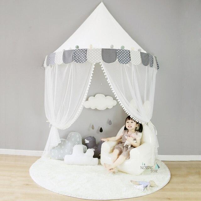Kinder Tipi Zelte Kinder Spielen Haus Baumwolle Bett Zelt Baldachin