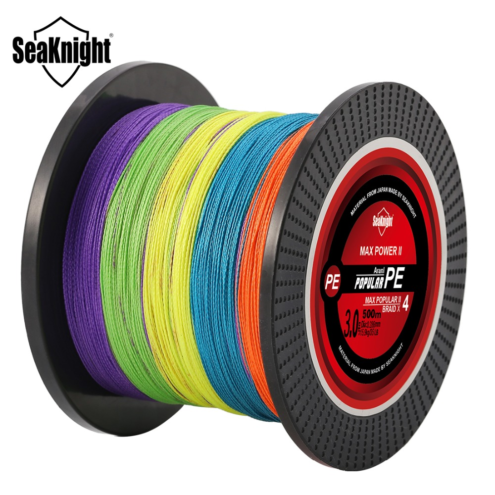 SeaKnight TP 300M 500M 1000M Fishing Line 8 10 20 30 40 60LB Multi-Color Braided Line Multifilament PE Fishing Line for Fishing
