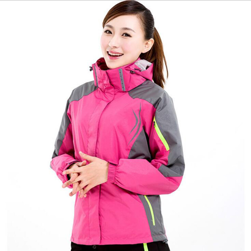 Women's Winter 2 pieces Softshell Fleece Jackets Outdoor Sports Waterproof Thermal Hiking Skiing Female Climbing Camping Coats mens winter softshell pant waterproof trousers cycling skiing hiking camping pants men soft shell fleece thermal outdoor trouser