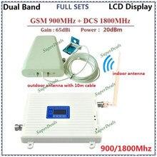 LCD Display ! GSM 4G Repetidor Sinal Celular Siganl Repeater GSM 900 4G DCS 1800 Antenna Mobile Phone Signal Booster Amplifier