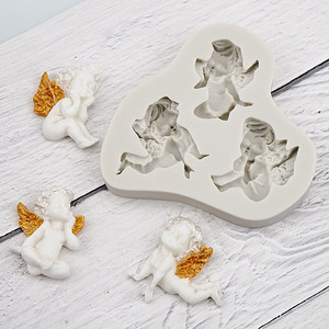 Image 3 - 3D Baby Angel Silicone Mold Fondant Mould Cake Decorating Tool Chocolate Gumpaste Mold Sugarcraft Kitchen Accessories Soap Mould