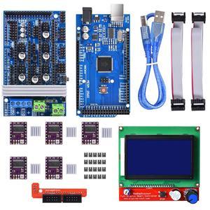 Image 1 - 3D プリンタコントローラキットメガ 2560 Uno R3 スターターキット + RAMPS 1.6 + 5 個 DRV8825 ステッピングモータドライバ + 液晶 12864 Reprap