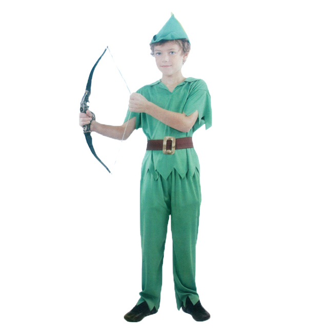 party cosplay costume halloween robin green goblin peter pan peter pan kids fancy dress