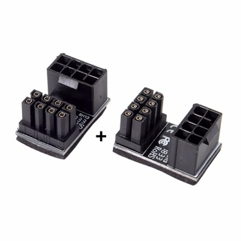 цена на ATX 8Pin Female to 8pin Male 180 Degree AngledPower Adapter for Desktops Graphics Card