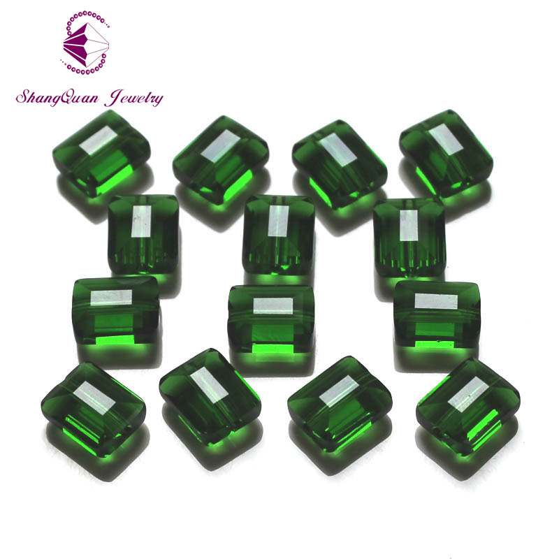 Shangquan 100pcs 10x8mm Crystal Square Beads DIY Jewellery Making For Bracelet Necklace Beading Wholesale SQ3A29108M