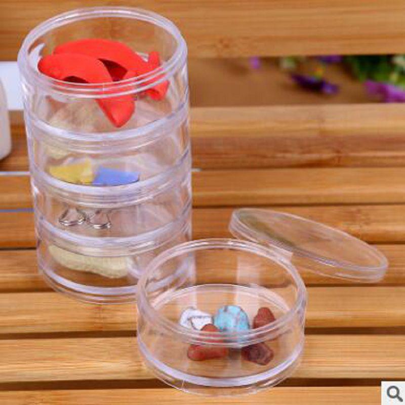 kosmētikas krātuve 5 gab. Caurspīdīga plastmasas kaste Apkārtraksts rotaslietu kaste maquiagem aplauzuma organizētāja kastes medikamentu uzglabāšanas kastes