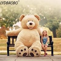 Hot Sale 1PC 260CM America Super Giant Teddy Bear Skin Plush Toys Soft Teddy Bears Popular Dolls Kids Birthday Valentine's Gifts