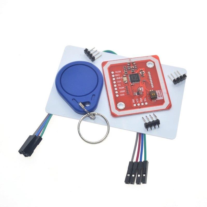 buy pn532 nfc rfid module v3 - 1Set PN532 NFC RFID Wireless Module V3 User Kits Reader Writer Mode IC S50 Card PCB Attenna I2C IIC SPI HSU For Arduino WAVGAT