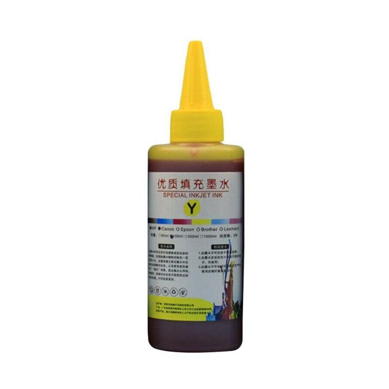 100 мл набор чернил для заправки, универсальный принтер для печати, настольный принтер для Canon PG-245 CL-246 PIXMA MG2420 MG2520 MG2920 MG2922 - Цвет: Yellow