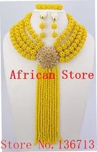 Moda zestaw biżuterii druhna kwiat Choker naszyjniki zestaw kolczyków nigeryjczyk afrykańskie koraliki biżuteria ślubna zestaw kryształ R606 tanie tanio Zestawy biżuterii TRENDY yeahmi Ze stopu cynku Necklace Bracelet earrings Party Kobiety Naszyjnik kolczyki bransoletka