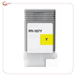 1 paczka żółty kompatybilny dla Pfi-107 atrament kartridż do canona ipf 670 680 685 770 780 785 drukarka atramentowa