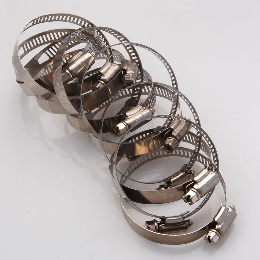 20x Adjustable1-12-2-14 Stainless Steel Drive Hose Clamps Fuel Line Worm Clip