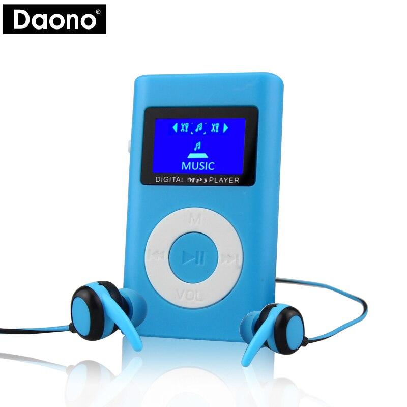 DAONO 2017 Superior Mini USB MP3 Player LCD Screen Support 32GB Micro SD TF Card Slot Digital Mp3 Music Player